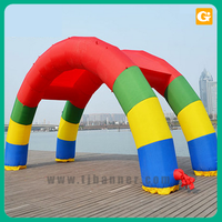 Custom logo advertising entrance start inflatable arch