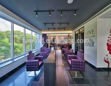Modern double sided hair salon furniture for styling station