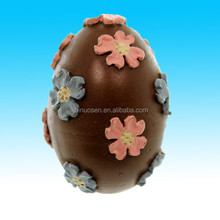 Easter CHOCOLATE EGG ORNAMENT Polyresin Flowers Bunny Spring