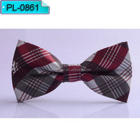 supply Black maroon and grey stripe Micro fiber bow tie Fashion bowtie PL0861