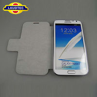 Magnetic Leather Flip Stand Case Cover for Samsung Galaxy Note 2 With Card Slots Outside
