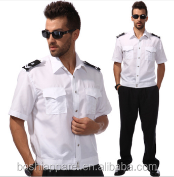 Guangzhou Factory Work Wear Security Guard Uniform Shirt