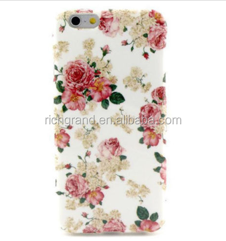 luxury flower silicone rubber TPU soft skin case for iphone 6