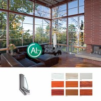 wholesale customized various colors anodized aluminum profile windows