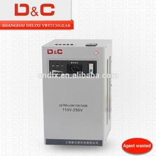 China Best voltage regulator Since 1994 SHANGHAI DELIXI Single /Three Phase 0.5K-5000K 80v-240v/400v LCD voltage regulator