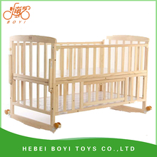 Solid wood environmental protection kids bed for 0-4 year baby kids wood car beds