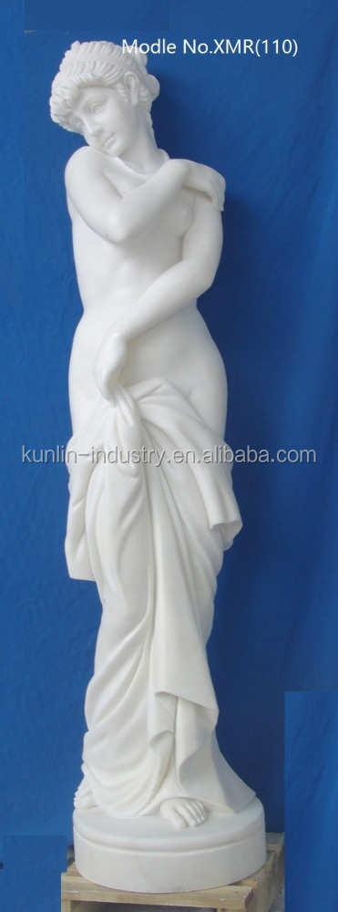 China high quality cheap white abstract naked woman mable marble statue in garden for sales