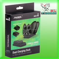 New Arrival Dual Charging Dock Controllers Charger + 2 Rechargeable Batteries for Xbox One Gaming Controller