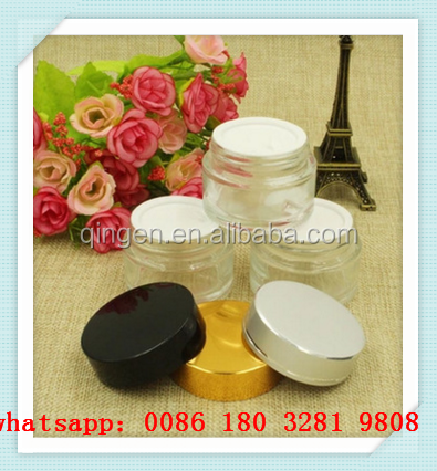 empty frosted red/ black /green color glass cream jar 15g 30g 50g cosmetic cream jar with aluminum cap