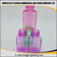 White skincare square plastic bottles and packaging