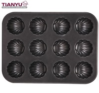 Carbon Steel Bakeware 12 Cup Muffin Pan with Non-Stick Coating