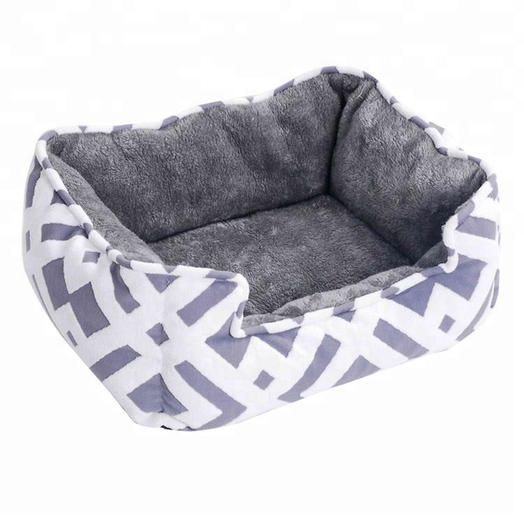 Soft Jacquard removable memory foam dog sofa bed heated pet mat
