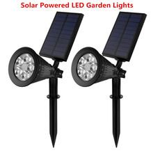 Rechargeable Solar Power Garden Lights 5 LED Spot Light Night Light for Garden Path Pathway Track Yard Patio Deck Driveway