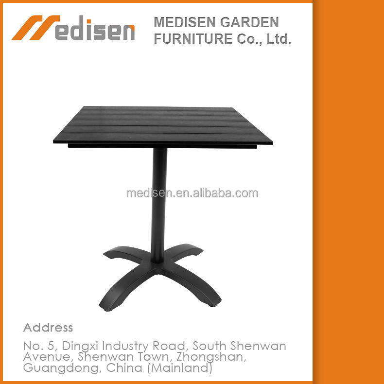 MDS-2005 factory price aluminum round outdoor bar table