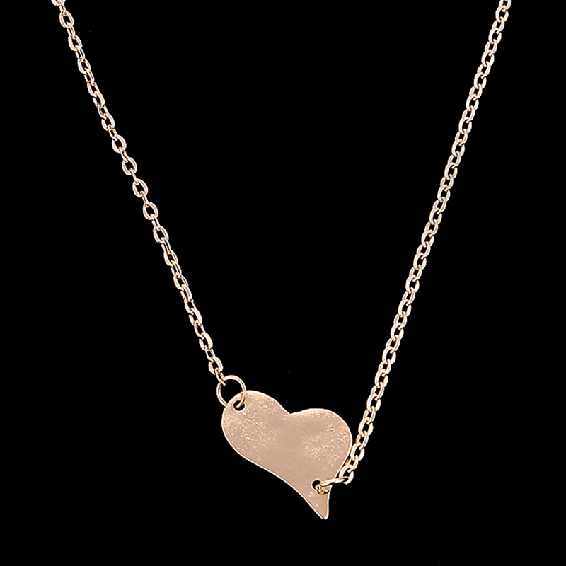 Top Selling Simple Heart Pendants Necklace Short Choker heart Necklace for Women <strong>Accessories</strong>