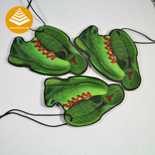 Custom printing two sides shoes shaped paper car air freshener hanging freshener for home / factory / company as Fresh products