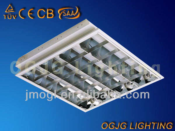 led grid fluorescent ceiling light fixture,fluorescent light t8