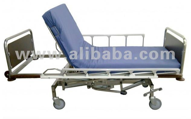 Hydraulic Hospital bed - Stainless steel - 2 Function