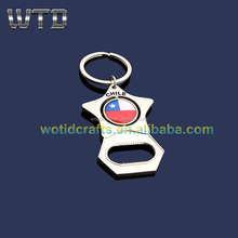 Metal Customized Logo Beer Bottle Opener Keychain Wk900