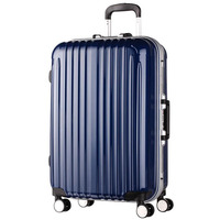 Flight case aluminum frame business travel trolley/carry on luggage bag