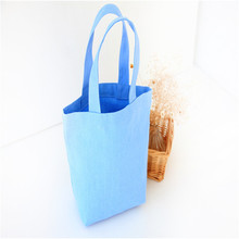 Fashionable fabric tote bag custome cosmetic bag cheap shopping bag