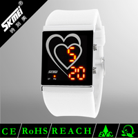 Ladies bright color LED digital watch gift set