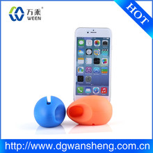 wireless no batteries mini silicone egg speaker/OEM/ODM silicone egg speaker for iphone 6