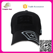 High Crown Classical Design Six Panels Customized velcro caps baseball cap with sandwich