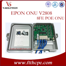 Water proof casing Reverse POE 8port EPON pacpon outdoor onu