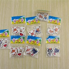F002 animal shaped eraser with full color printing/Wacky design toy eraser lovely 3d cat animal TPR pencil eraser