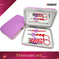 Fashion Promotional Cosmetic colorful Manicure kit beauty pedicure set