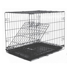 folding steel wire pet house dog cage with divider China manufacturer