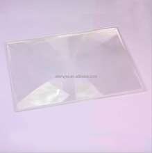 Fresnel Lens Full Page Magnifying Glass Plastic Magnifying Sheet for Reading