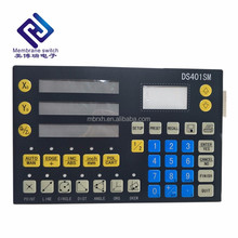 Membrane switch keyboard silicone rubber button keypad graphic overlay for household application