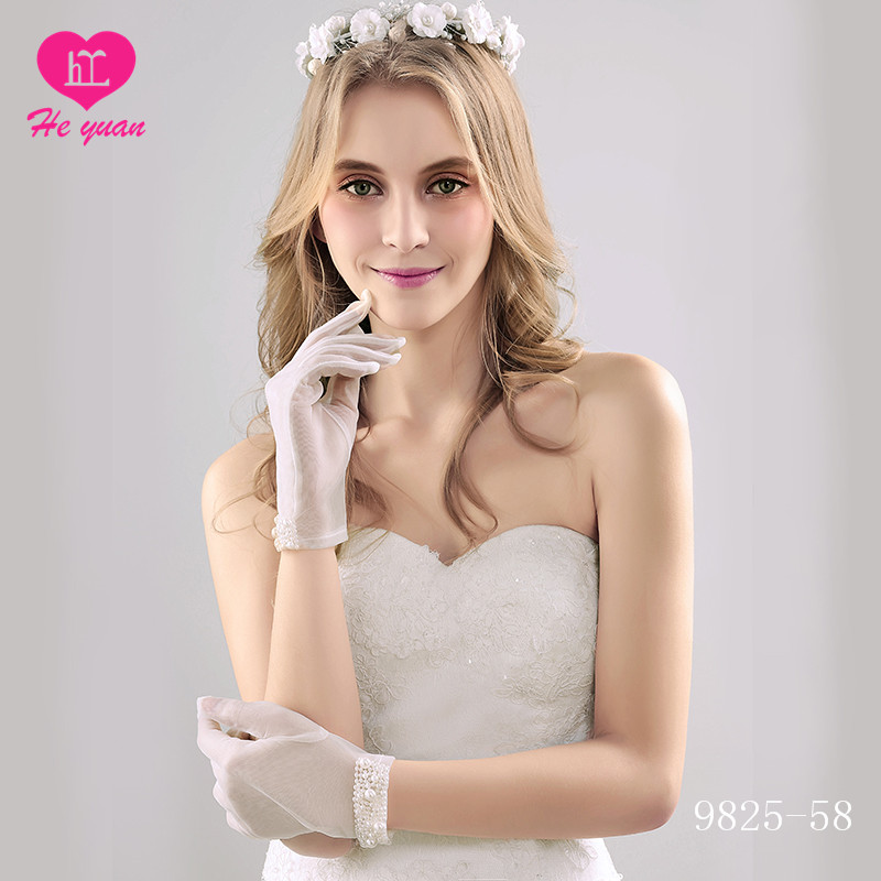 9825-59 Factory supply hot sale wedding hand gloves for bride