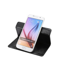 New model leather kick stand universal 360 Rotating degree phone case for 5.5-6.0 inch mobile phones
