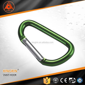 High safety carabiner snap aluminium hooks factory Customized spring hook
