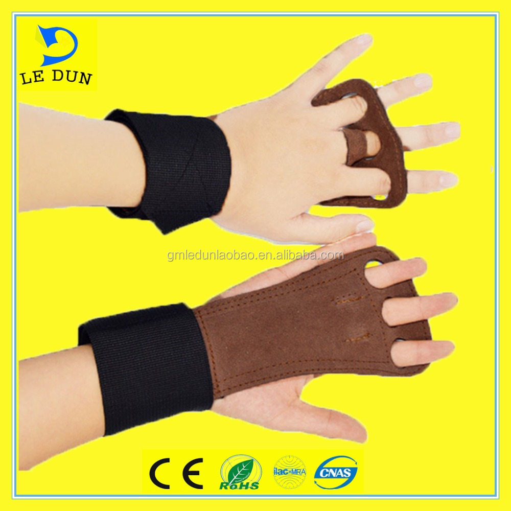 Manufacturer <strong>weight</strong> lifting half finger leather glove bodybuilding gym equipment sport fitness gloves, gym gloves
