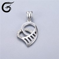 925 silver heart pendant wholesale sterling silver charms 925 silver chain heavy