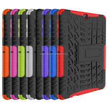 For Samsung S2 Tab 9.7 T810 shockproof kickstand pc+tpu case, hybrid combo armor back cover shell for Samsung S2 Tab 9.7 T810