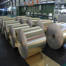 customized color coated aluminum foil roll for processing sticker/label