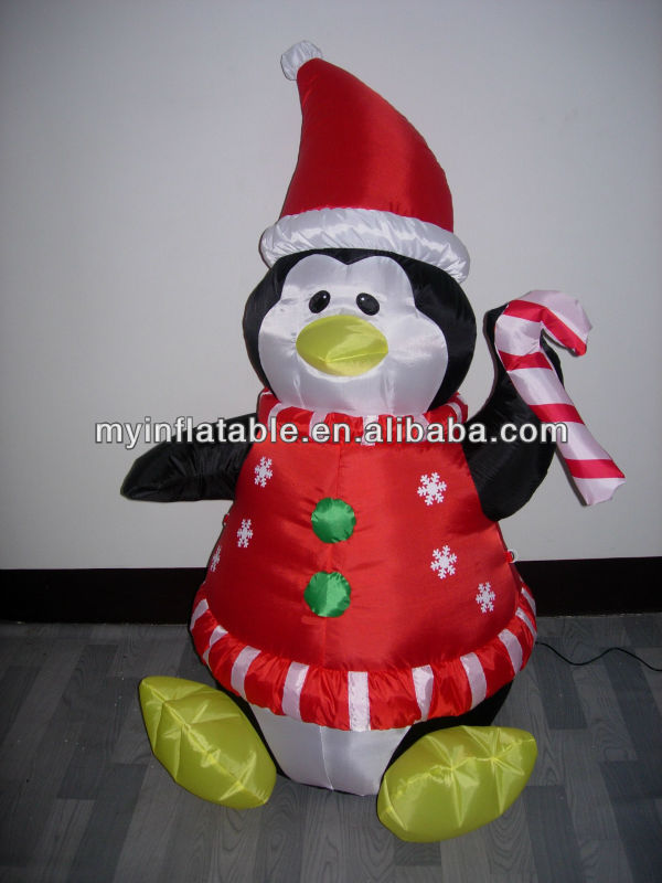 pop-up penguin in snow globe decoration outdoor inflatable