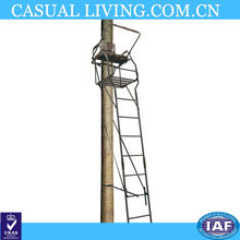 Aluminum hunting tree ladder stand with legs