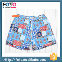 100% microfiber twill polyester wholesale men mesh swim shorts