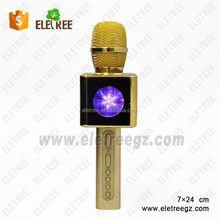 Instrument mp3 blue tooth wireless kids magic karaoke ktv microphone Q9 WS858 e108 mic for android