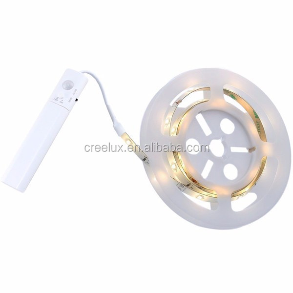 flexible LED Stripe 1m battery powered led strip light with Motion Sensor