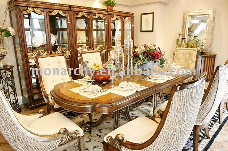 D0024-42 high quality solid wood antique cherry wood dining room sets