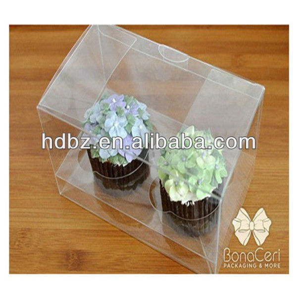 custom high quality plastic cupcake boxes made in china