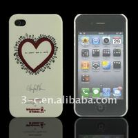 white signature mobile phone case for 4G innovation design