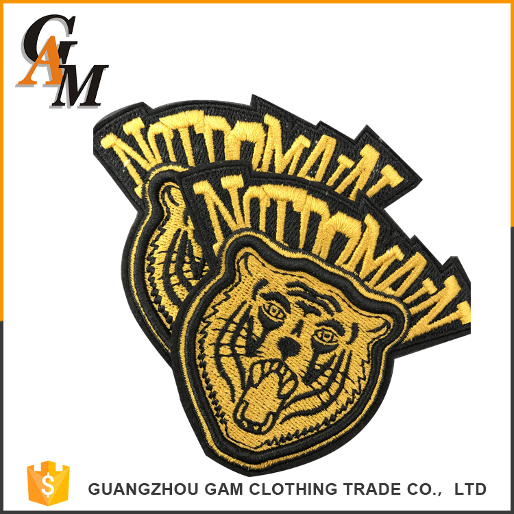 2017 custom woven custom embroidered tiger jacket patches